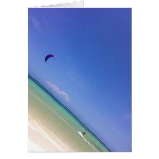 Kite Surfer Greeting Card
