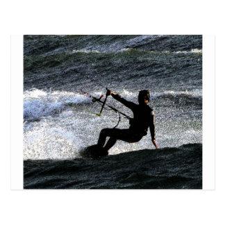 Kite surfer postcard
