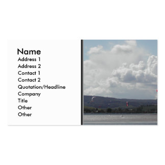 Kite Surfers. Nice scenic view. Pack Of Standard Business Cards