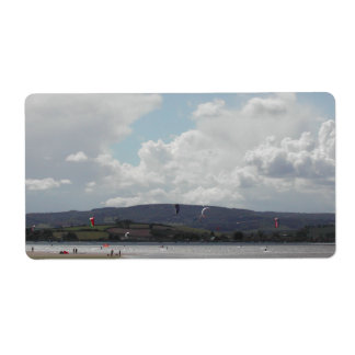 Kite Surfers. Nice scenic view. Shipping Label