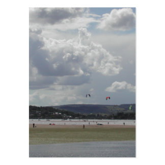 Kite Surfers. Scenic view. Pack Of Chubby Business Cards