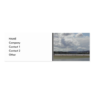 Kite Surfers. Scenic view. Pack Of Skinny Business Cards