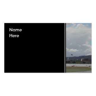 Kite Surfers. Scenic view. Pack Of Standard Business Cards
