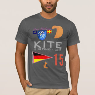 Kite Surfing Germany GER Flag T-Shirt