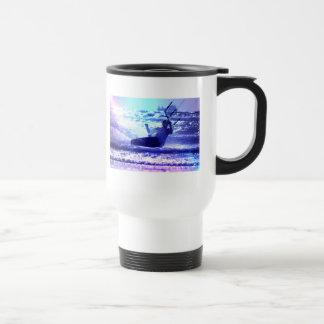 Kite Surfing Plastic Travel Mug