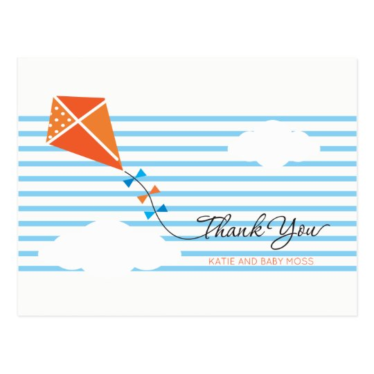 Kite Thank You Postcard {Boy}