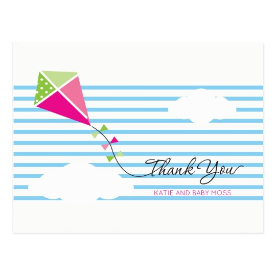 Kite Thank You Postcard {Girl}