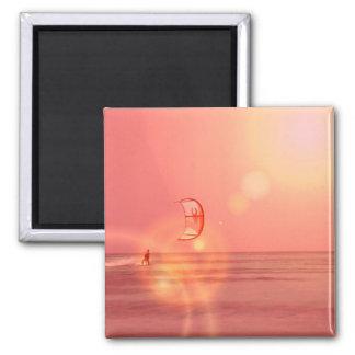 Kiteboarding Sunset Magne Magnet