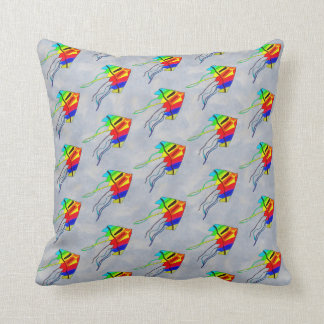 Kites and Sky Throw Pillow