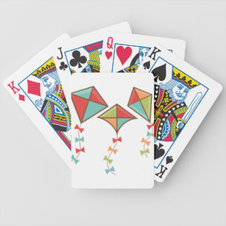 Kites  colorful bicycle playing cards