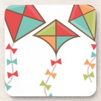 Kites  colorful coaster
