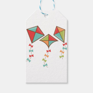 Kites  colorful gift tags