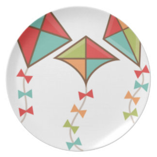 Kites  colorful plate