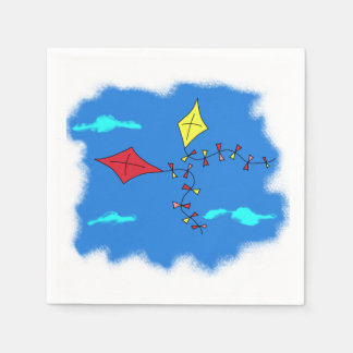 Kites in the Blue Sky Disposable Napkins