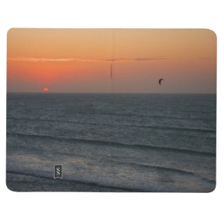Kitesurfing at sunset journal
