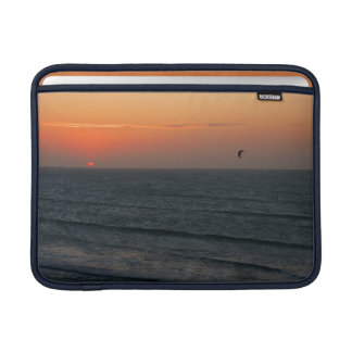 Kitesurfing at sunset MacBook sleeve
