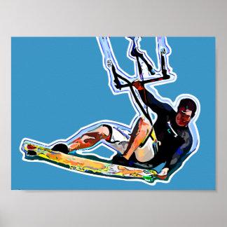 Kitesurfing athlete poster