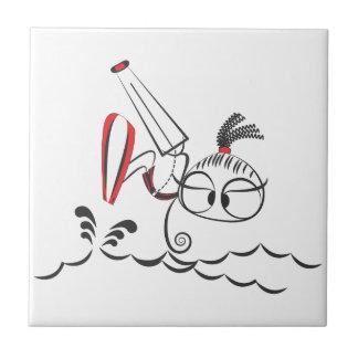 Kitesurfing doll tile