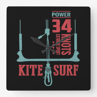 Kitesurfing Gift Ideas Square Wall Clock