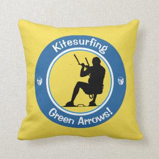 Kitesurfing Master Throw Pillow