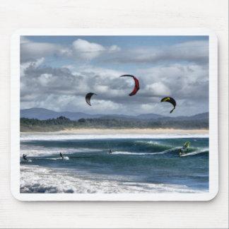 Kitesurfing on beach mouse pads