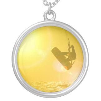 Kitesurfing Silhouette Necklace