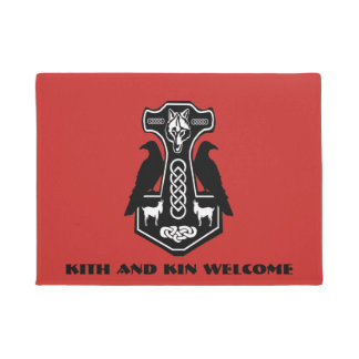 Kith and Kin Welcome Thor Hammer Doormat