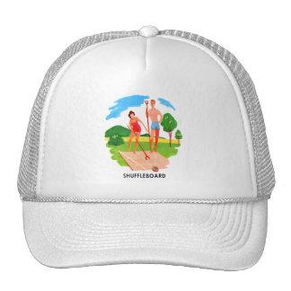 Kitsch 60s Vintage Resort Shuffleboard Couple Trucker Hat
