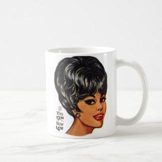 Kitsch Vintage '100% Human Wig' Ad #2 Coffee Mug