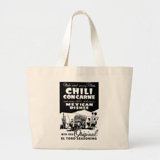 Kitsch Vintage Ad Chili Con Carne Spice Jumbo Tote Bag