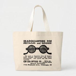 Kitsch Vintage Ad Googles and Eyewear Glasses Jumbo Tote Bag