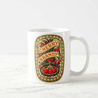 Kitsch Vintage Alcohol Cherry Brandy Label Mug
