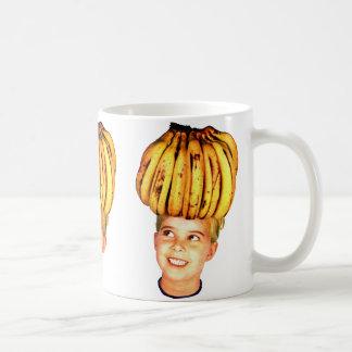 Kitsch Vintage Bananas Ad 'Banana Head girl' Coffee Mugs