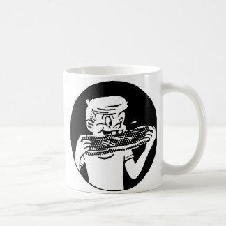 Kitsch Vintage 'Chomping Kid' Ribs BBQ Eating Coffee Mugs