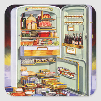 Kitsch Vintage Classic Refrigerator 'Full Fridge' Stickers