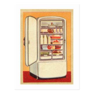 Kitsch Vintage Classic Refrigerator Postcard