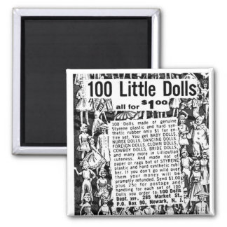 Kitsch Vintage Comic Book Ad 100 Little Dolls Magnet
