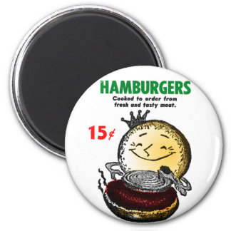 Kitsch Vintage Hamburgers 'Only 15¢' Magnet