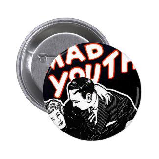 Kitsch Vintage Jazz Mad Youth 2 Inch Round Button