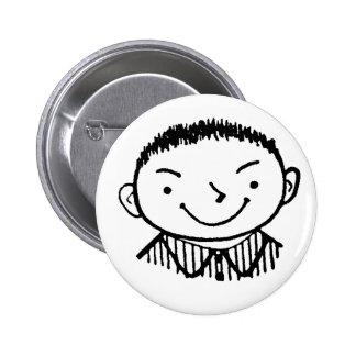 Kitsch Vintage Kid 'Smart Alec' Pinback Button