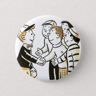 Kitsch Vintage Kids Good Buddies 2 Inch Round Button