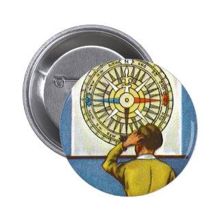 Kitsch Vintage Lost Direction Boy 2 Inch Round Button