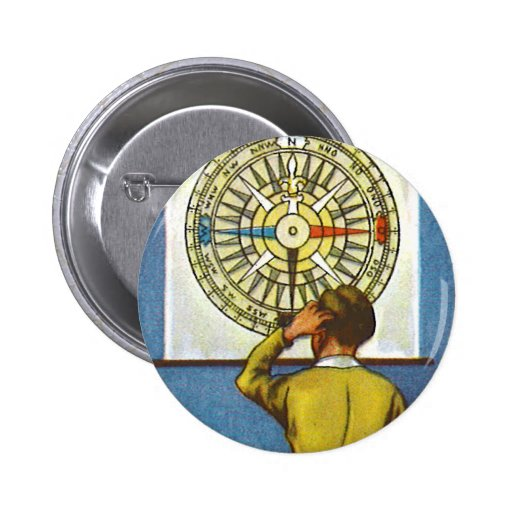 Kitsch Vintage Lost Direction Boy Pin