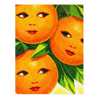 Kitsch Vintage Oranges 'Orange Girls' Postcard