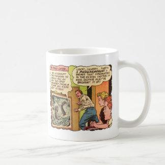 Kitsch Vintage 'Phagasaurus' Comic Ad Art Mugs