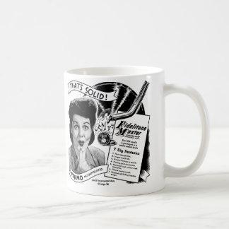 Kitsch Vintage Phonograph Record Needle Coffee Mug