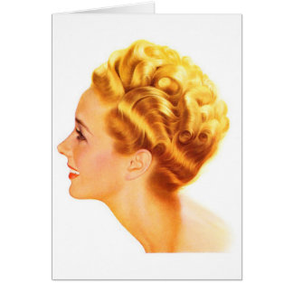 Kitsch Vintage Pin-Up Girl Classic Profile Card