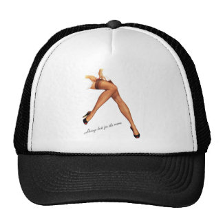 Kitsch Vintage Pin-Up Legs Stockings Trucker Hat