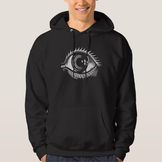 Kitsch Vintage Retro 'Big Eye' Illustration Hoodie