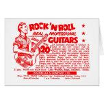 "Kitsch Vintage Rock N' Roll 'Guitars, 20 Quid!"" Greeting Card"